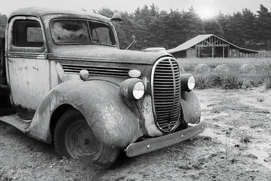Lori Deiter LD1393 - Stuck in the Mud Truck, Rusty Truck, Field, Farm, Black & White from Penny Lane
