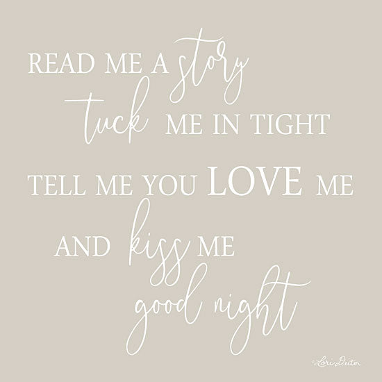 Lori Deiter LD1397 - Read Me a Story Story, Kiss Me Good Night, Sign from Penny Lane