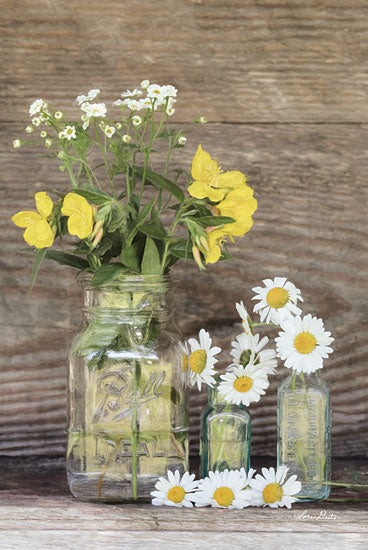 Lori Deiter LD1428 - Summer Selection Flowers, Daisies, Yellow and White Flowers, Glass Jars from Penny Lane