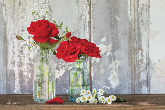 Lori Deiter LD1434 - Red Velvet Roses Flowers, Daisies, Roses, Red Flowers, Glass Jars from Penny Lane