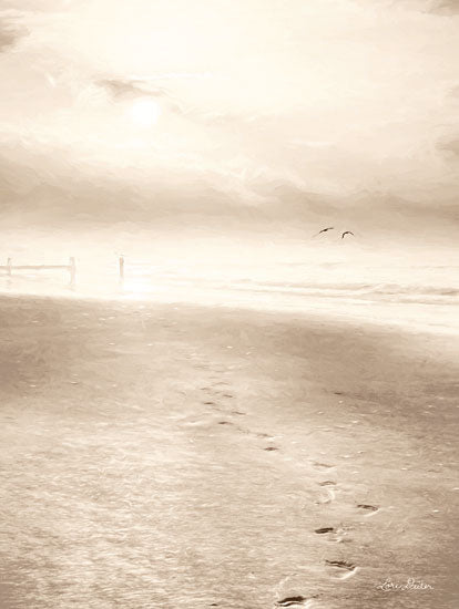 Lori Deiter LD1437 - Bleached Sunrise  Sand, Beach, Coastline, Footprints, Sepia, Walk on the Beach from Penny Lane