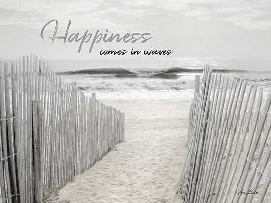 Lori Deiter LD1460 - Happiness Comes in Waves Happiness, Beach, Fence, Ocean, Walkway from Penny Lane