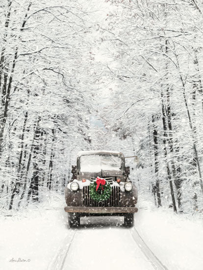 Lori Deiter LD1476 - Antique Christmas Truck, Holidays, Winter, Snow, Road, Path, Antiques from Penny Lane