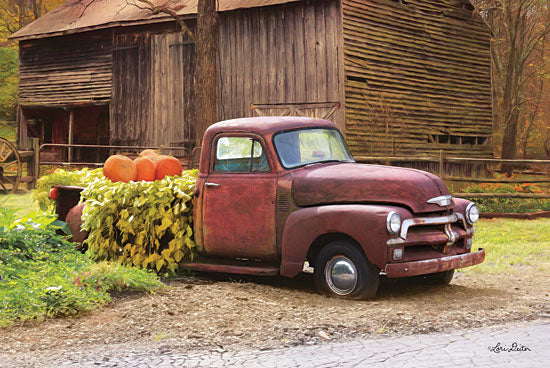 Lori Deiter LD1496 - Fall Pumpkin Truck Truck, Pumpkins, Barn, Farm, Rusty Truck, Autumn from Penny Lane