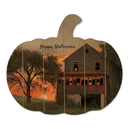 Lori Deiter LD1501PUMP - Spooky House Haunted House, Scary, Sunset, Evening, Pumpkins from Penny Lane