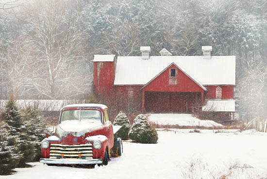 Lori Deiter LD1516 - Chevy Country - 18x12 Truck, Snow, Winter, Barn, Farm, Christmas Trees from Penny Lane