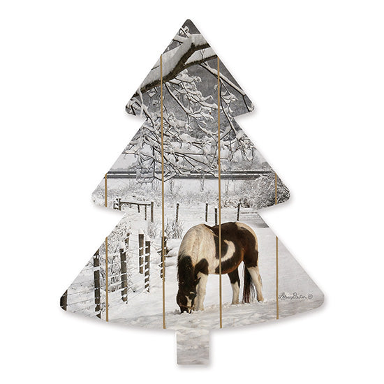 Lori Deiter LD1530TREE - Horse in Snow  Horse, Field, Christmas Trees, Snow, Winter, Grazing from Penny Lane