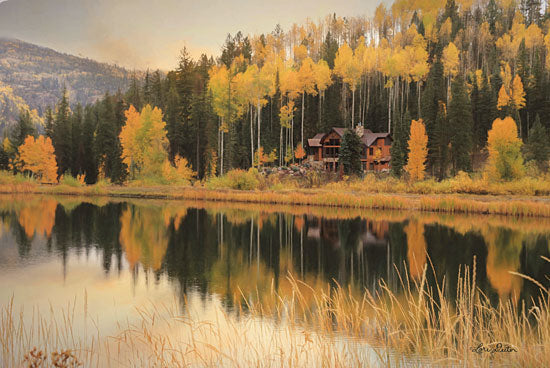 Lori Deiter LD1544 - LD1544 - Durango Reflections    - 18x12 Photography, Lake, Trees, Mountains, Fall, Cabin, Durango from Penny Lane