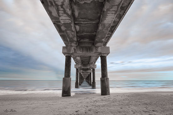 Lori Deiter LD1548 - Beneath the Outer Banks Beach Pier  - 18x12 Outer Banks, Beach Pier, Beach, Coast, Pier, Sand, Beach from Penny Lane