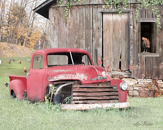 Lori Deiter LD1656 - LD1656 - Red and Rusty I    - 16x12 Photography, Country, Roosters, Barn, Truck, Farm Life from Penny Lane
