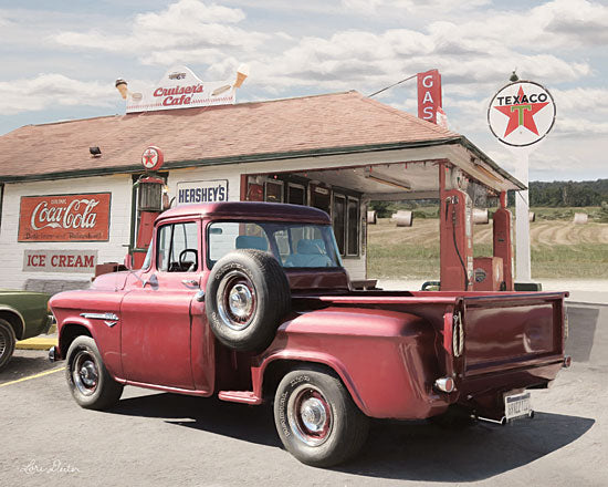 Lori Deiter LD1658 - LD1658 - Rest Stop at Cruiser's Café    - 16x12 Photography, Truck, Country, Gas Station, Cruiser's Cafe, Vintage from Penny Lane