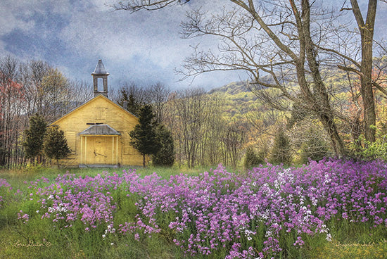 Lori Deiter LD165 - Fragrant Field  Lavender, Field, Church, Country Church, Wildflowers from Penny Lane