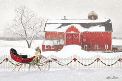 LD1704GP - Christmas Barn with Sleigh