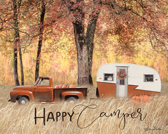 Lori Deiter LD1721 - LD1721 - Fall Camping     - 16x12 Camping, Camper, Truck, Autumn, Pumpkins, Trees from Penny Lane
