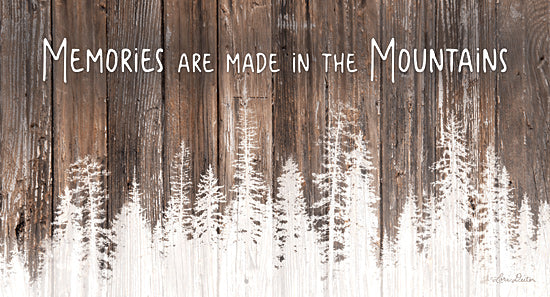 Lori Deiter LD1782 - LD1782 - Mountain Memories - 18x9 Memories, Mountains, Wood Background, Trees from Penny Lane