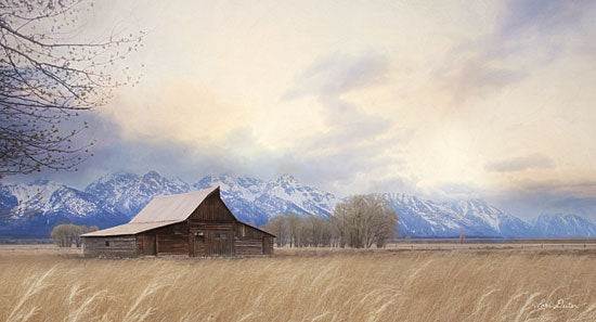 Lori Deiter LD1793 - LD1793 - Faith to Move Mountains - 18x9 Barn, Farm, Mountains, Landscape, Fields from Penny Lane