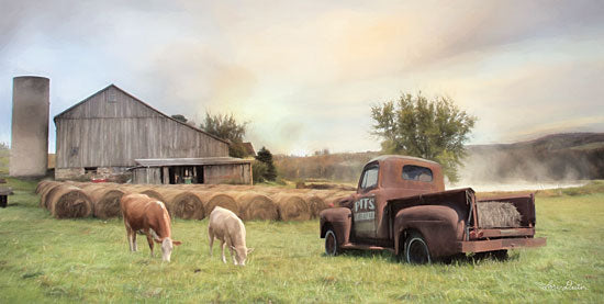 Lori Deiter LD1817 - LD1817 - Tioga County Farmland - 18x9 Barn, Cows, Landscape, Truck, Vintage,  from Penny Lane