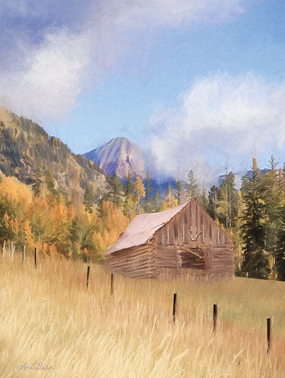 Lori Deiter LD1818 - LD1818 - San Juan Hunting Cabin - 12x16 Barn, Mountains, Landscape, Trees from Penny Lane