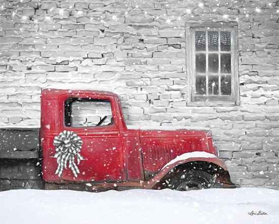 Lori Deiter LD1848 - LD1848 - Christmas Truck with Plaid Bow - 16x12 Christmas, Truck, Bow, Window, Candle from Penny Lane