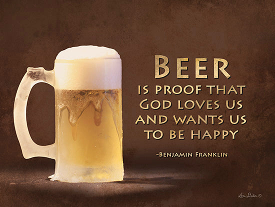 Lori Deiter LD259 - Be Happy  Beer, Beer Mug, Benjamin Franklin, Drink from Penny Lane