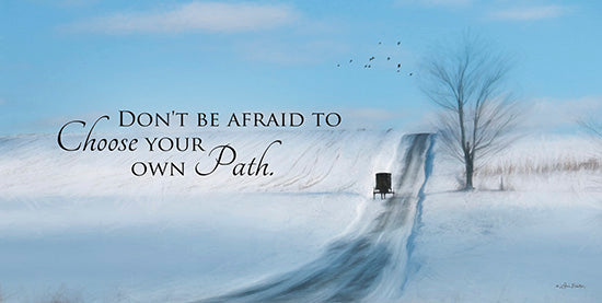 Lori Deiter LD514 - Choose Your Own Path  Amish, Winter, Snow, Path, Motivating from Penny Lane