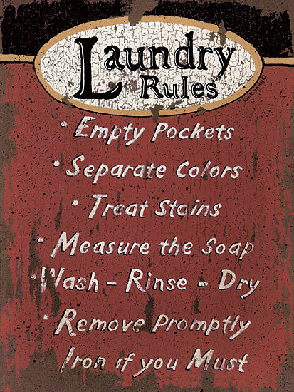 Linda Spivey LS1249 - Laundry Rules - Laundry, Rules, Sign from Penny Lane Publishing