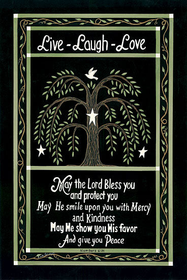 Linda Spivey LS1431 - Willow Tree Blessing - Willow Tree, Live, Laugh, Love, Sampler from Penny Lane Publishing