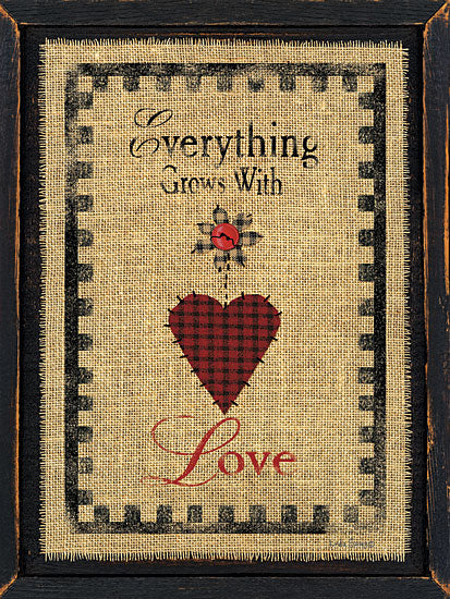 Linda Spivey LS1490 - With Love - Love, Heart, Checkerboard, Needlework, Frame from Penny Lane Publishing