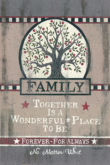 Linda Spivey LS1539 - Family Tree - Family, Tree, Barn Stars, Checkerboard from Penny Lane Publishing