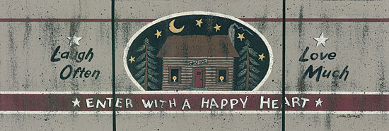 Linda Spivey LS1541 - Happy Cabin - Laugh, Love, Log Cabin, Night, Signs from Penny Lane Publishing