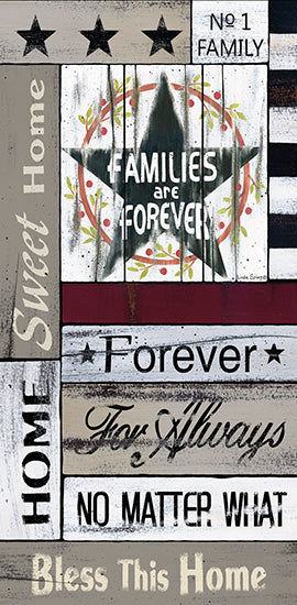 Linda Spivey LS1682 - Families are Forever - Family, Home, Calligraphy, Barn Star from Penny Lane Publishing
