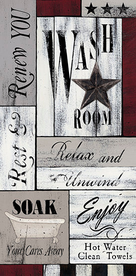 Linda Spivey LS1683 - Soak Your Cares Away - Wash Room, Bath, Calligraphy, Barn Star from Penny Lane Publishing