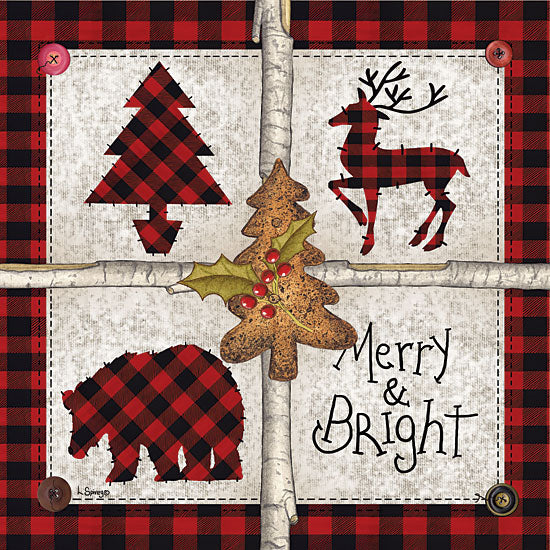 Linda Spivey LS1689 - Four Square Merry & Bright Merry & Bright, Buffalo Plaid, Rusty, Wildlife, Holidays from Penny Lane