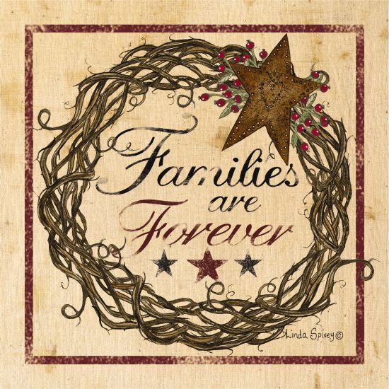 Linda Spivey LS1698 - Families are Forever Families are Forever, Grapevine Wreath, Star, Rusty Star, Rustic from Penny Lane
