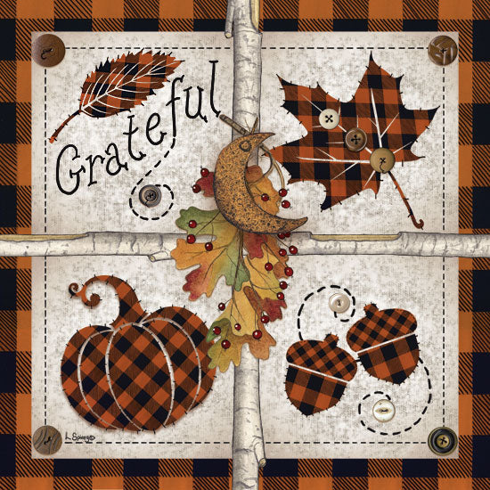 Linda Spivey LS1707 - Autumn Four Square Grateful Autumn, Buffalo Plaid, Thanksgiving, Harvest, Pumpkins, Icons, Signs from Penny Lane