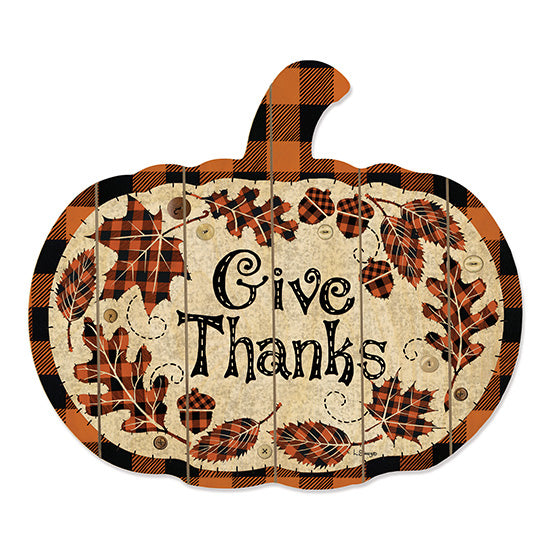 Linda Spivey LS1719PUMP - Give Thanks Give Thanks, Thanksgiving, Pumpkin, Buffalo Plaid, Leaves, Autumn from Penny Lane