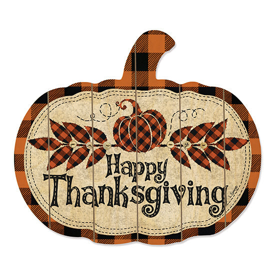 Linda Spivey LS1720PUMP - Happy Thanksgiving Happy Thanksgiving, Pumpkin, Buffalo Plaid, Leaves, Autumn from Penny Lane