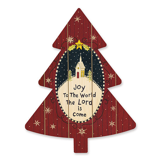 Linda Spivey LS1723TREE - Joy to the World   Holiday, Joy to the World, Church, Country, Snowflakes, Christmas Tree from Penny Lane