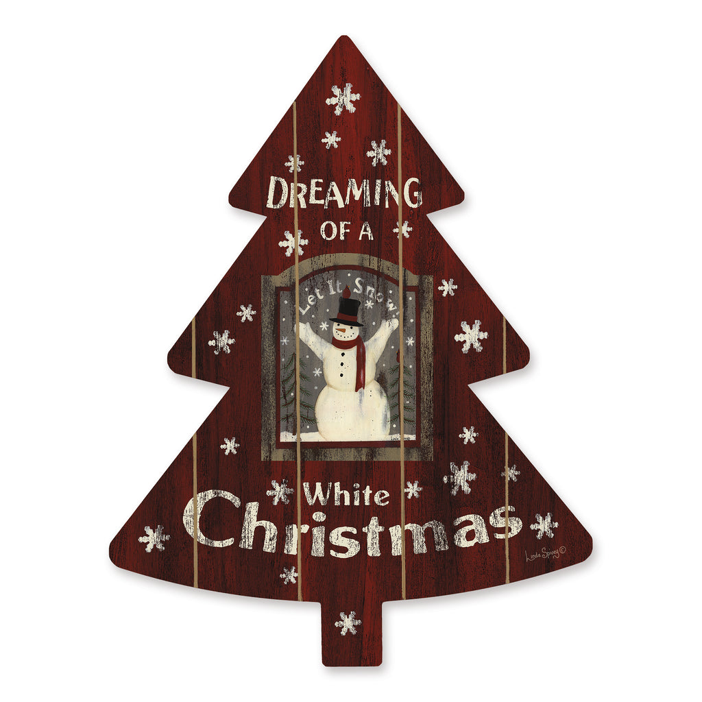 Linda Spivey LS1777TREE - LS1777TREE - Dreaming of a White Christmas - 14x18 Signs, Snowman, White Christmas, Songs, Snowflakes, Wood Planks, Typography from Penny Lane