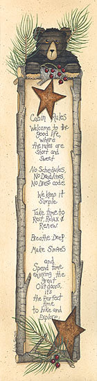 Linda Spivey LS811 - Cabin Rules - Cabin Rules, Bear, Barn Stars, Pine Sprigs, Signs from Penny Lane Publishing
