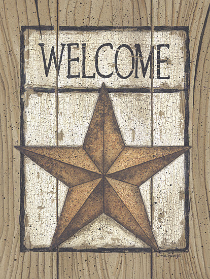 Linda Spivey LS878 - Star Welcome - Welcome, Barn Star, Wood Planks from Penny Lane Publishing