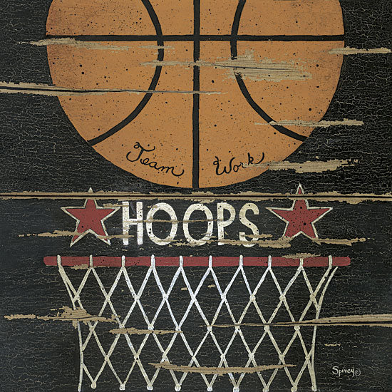 Linda Spivey LS950 - Hoops - Basketball, Sports, Signs from Penny Lane Publishing