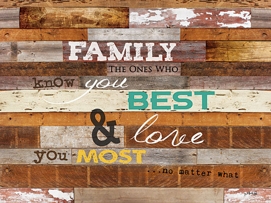 Marla Rae MA1001GP - Family Knows You Best - Family, Wood Planks, Signs from Penny Lane Publishing