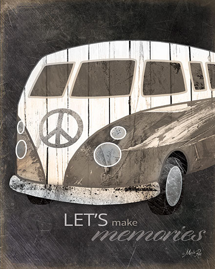 Marla Rae MA1021 - Let's Make Memories  - Van, Peace Sign, Memories from Penny Lane Publishing