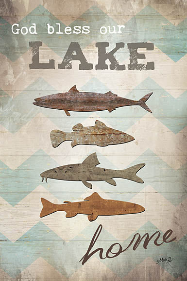 Marla Rae MA1032 - Our Lake Home - Fish, Lake, Home, Chevron from Penny Lane Publishing