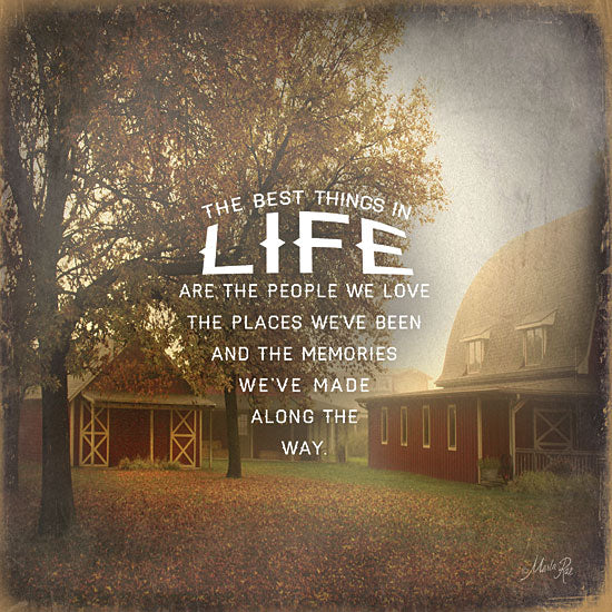 Marla Rae MA1055A - Best Things in Life - Life, Barn, Trees, Inspiring from Penny Lane Publishing