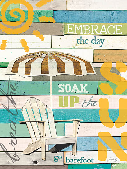 Marla Rae MA1056 - Soak Up the Sun - Sun, Adirondack Chair, Umbrella, Wood Planks from Penny Lane Publishing