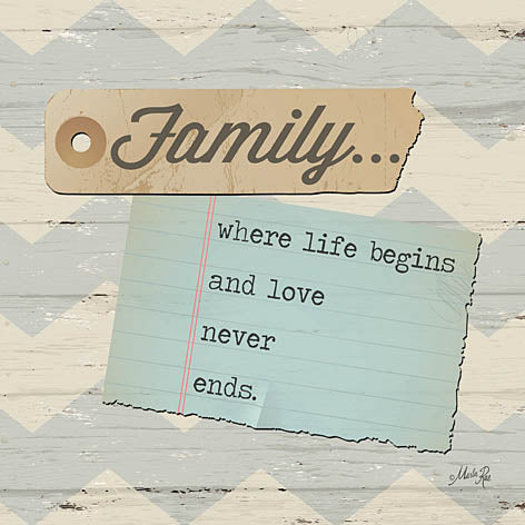 Marla Rae MA1067 - Family... - Family, Notepaper, Chevron from Penny Lane Publishing