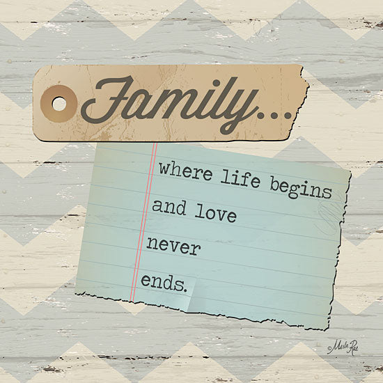 Marla Rae MA1067GP - Family... - Family, Notepaper, Chevron from Penny Lane Publishing