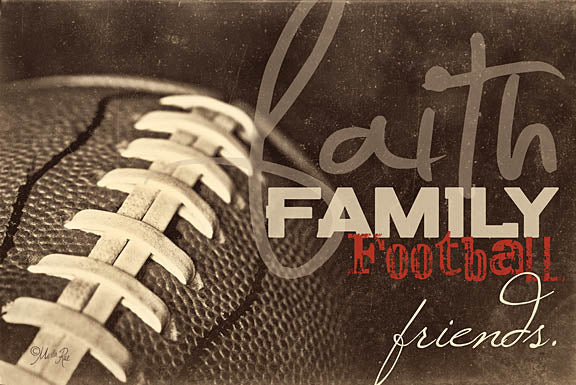 "Marla Rae MA106 - The Four ""F's"" - Faith, Family, Football, Friends, Signs from Penny Lane Publishing"